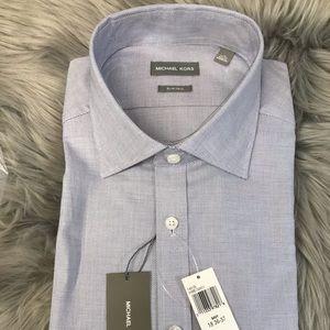 MICHAEL KORS Slim Tall DRESS SHIRT 18 36/37